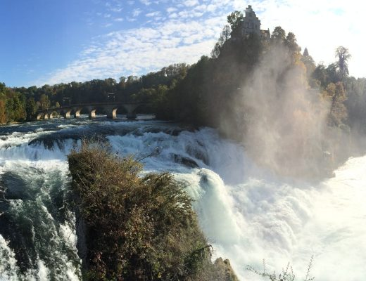 rhine falls and fall colours