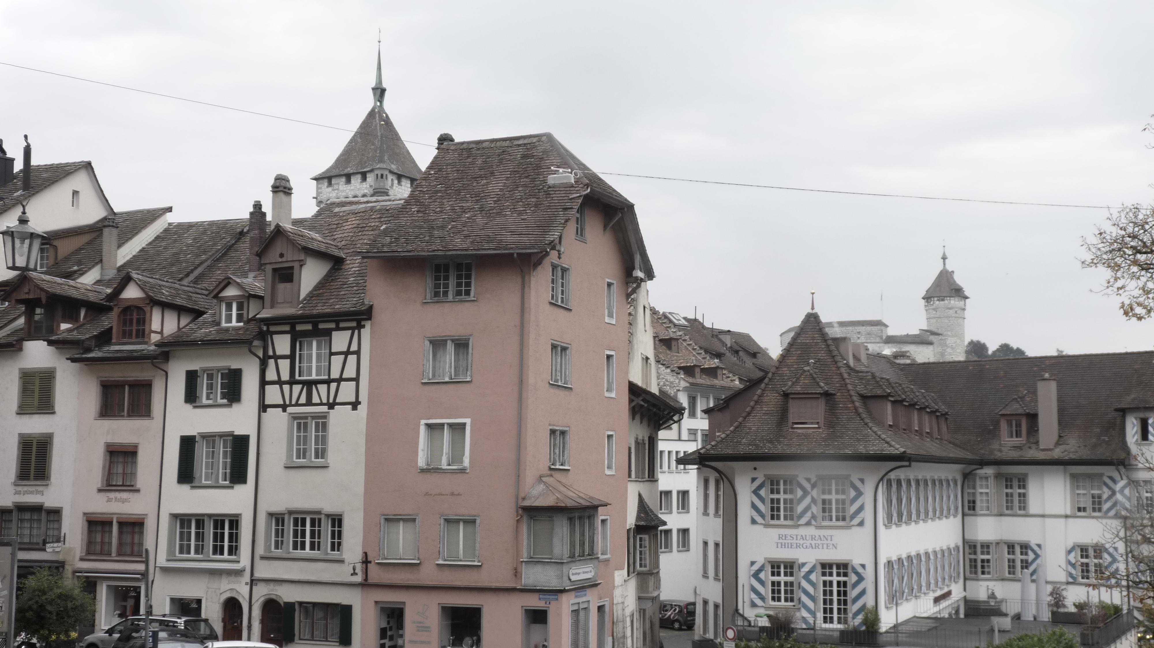 Schaffhausen's old medieval city