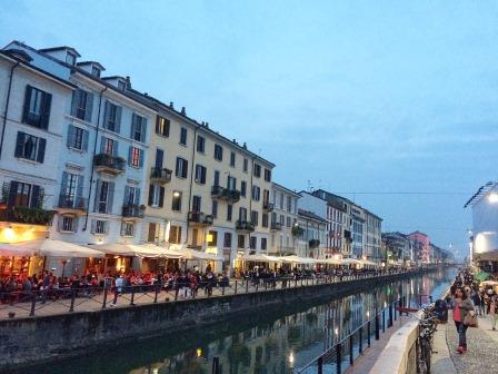 Picture of the Naviglio Grande in Milano