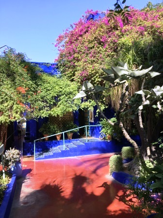 Jardin et escaliers de la Villa Majorelle