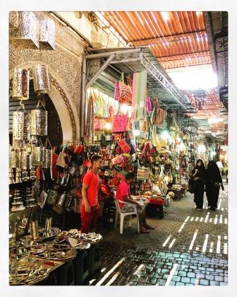 Ruelle du souk de Marrakech