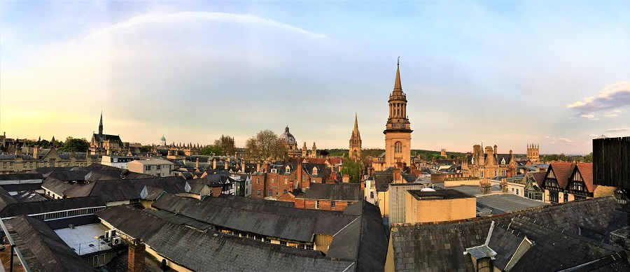 Picture of view of Oxford roofs at sunset