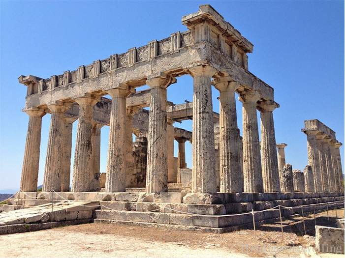 Picture of well-preserved antique Greek temple