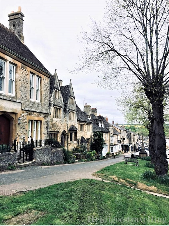Picture of village street bordered by old stone houses