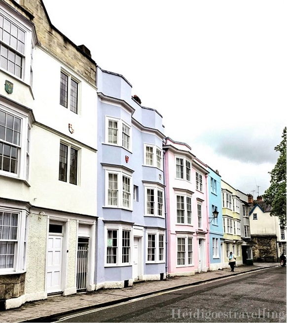 Picture of pastel-coloured storey buildings