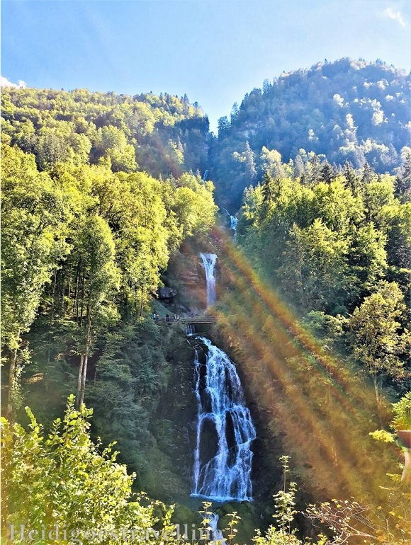 View of the Giessbach waterfall