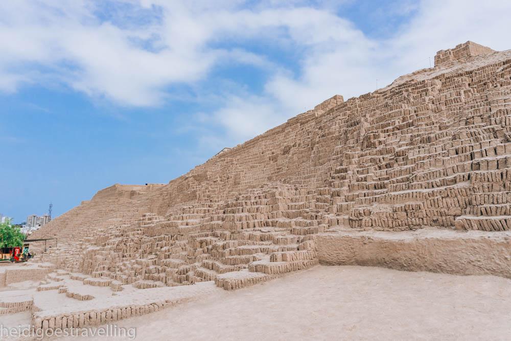 adobe-made pyramid in Lima
