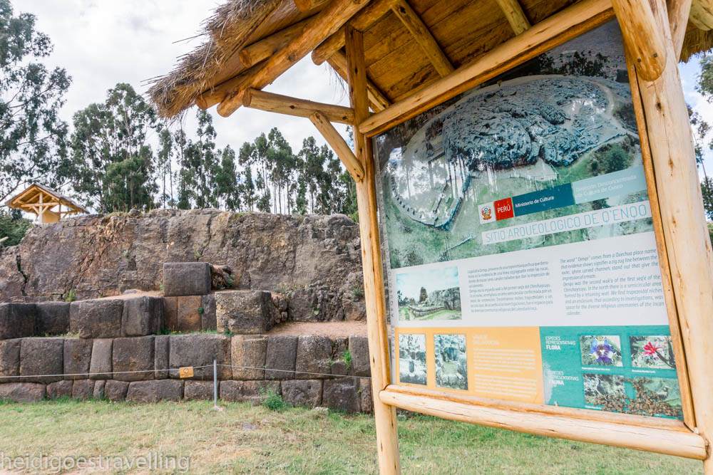 Picture of ancient Inca ruins covered by grass