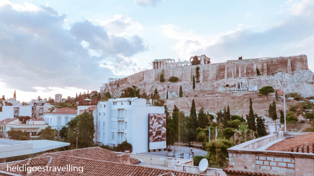 Picture of a 180° view of the Acropolis temple